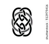 celtic overlapped black... | Shutterstock .eps vector #512975416