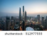 elevated view of lujiazui ... | Shutterstock . vector #512977555
