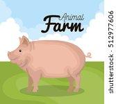 pig animal farm icon | Shutterstock .eps vector #512977606