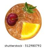 orange juice cocktail with... | Shutterstock . vector #512980792