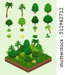 trees and bushes set for video... | Shutterstock .eps vector #512982712