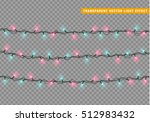 christmas lights isolated... | Shutterstock .eps vector #512983432