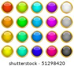colorful web buttons | Shutterstock .eps vector #51298420