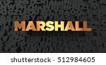 marshall   gold text on black...   Shutterstock . vector #512984605