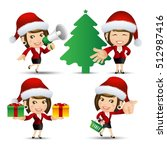 people set   santa claus  ... | Shutterstock .eps vector #512987416