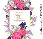 romantic invitation. wedding ... | Shutterstock . vector #512992096