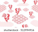 chinese zodiac year of the... | Shutterstock .eps vector #512994916
