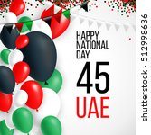 united arab emirates uae 45... | Shutterstock .eps vector #512998636
