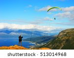 man taking picture of norway... | Shutterstock . vector #513014968