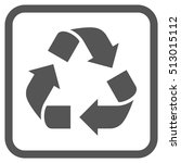 recycle gray vector icon. image ... | Shutterstock .eps vector #513015112