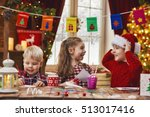 merry christmas and happy... | Shutterstock . vector #513017416