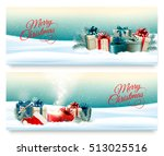 two christmas banners with... | Shutterstock .eps vector #513025516