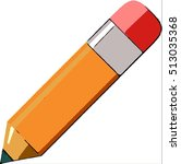 pencil on white background  ... | Shutterstock . vector #513035368