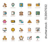 banking and finance icon set ... | Shutterstock .eps vector #513047032
