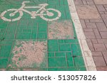 bike lane mekong river in... | Shutterstock . vector #513057826