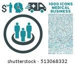 soft blue social group vector... | Shutterstock .eps vector #513068332