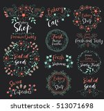 baked goods.sweet cupcakes...   Shutterstock .eps vector #513071698