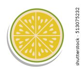 fruit icon image  | Shutterstock .eps vector #513075232