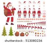 santa claus character creation... | Shutterstock .eps vector #513080236