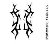 tattoo tribal vector designs.... | Shutterstock .eps vector #513081172
