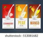 milkshake concept with milk... | Shutterstock .eps vector #513081682