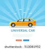 city car isolated on rays... | Shutterstock .eps vector #513081952
