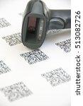 bluetooth barcode and qr code... | Shutterstock . vector #513082726