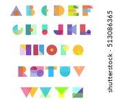 alphabet geometric funny font....   Shutterstock .eps vector #513086365