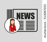 character woman reporter... | Shutterstock .eps vector #513087052