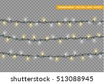 christmas lights isolated... | Shutterstock .eps vector #513088945