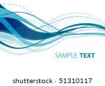 aqua wave. vector | Shutterstock .eps vector #51310117