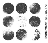 circle grunge shapes set | Shutterstock .eps vector #513102472