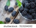 Close Up Of Fresh Blackberries...