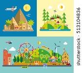 modern flat design conceptual... | Shutterstock .eps vector #513104836