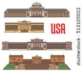 usa sightseeings vector icons... | Shutterstock .eps vector #513105022