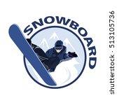 extreme sport snowboard design. ... | Shutterstock .eps vector #513105736