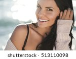 beautiful woman | Shutterstock . vector #513110098