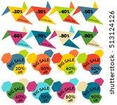 set of sale discount labels ...   Shutterstock .eps vector #513124126