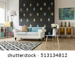 light  and modern living room... | Shutterstock . vector #513134812