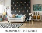 light  and modern living room... | Shutterstock . vector #513134812