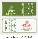 two vector christmas stylized...   Shutterstock .eps vector #513138952
