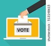 voting online concept. hand... | Shutterstock .eps vector #513148615