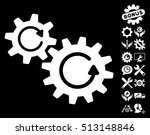 cogs rotation pictograph with...   Shutterstock . vector #513148846