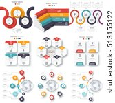 set with infographics. data and ... | Shutterstock .eps vector #513155122