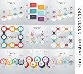 set with infographics. data and ... | Shutterstock .eps vector #513155182