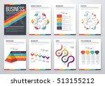 infographic vector set.... | Shutterstock .eps vector #513155212