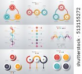 set with infographics. data and ... | Shutterstock .eps vector #513155272