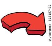 pointing arrow cartoon... | Shutterstock .eps vector #513157432