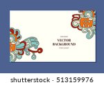 vector background with tribal...   Shutterstock .eps vector #513159976