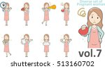 diverse set of pregnant women   ... | Shutterstock .eps vector #513160702